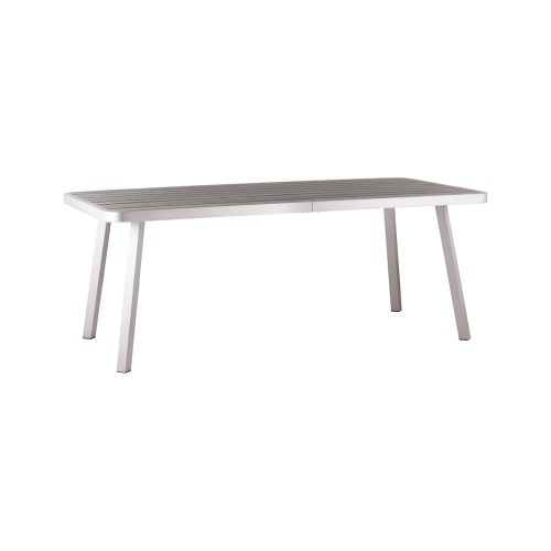 Comfy Zuo Township Patio Table Brushed Aluminum 703180 1 Patio Table 8 Patio Table Seats 8