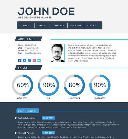 Pin by Chanel Mepschen on Portfolio Pinterest - front end developer resume