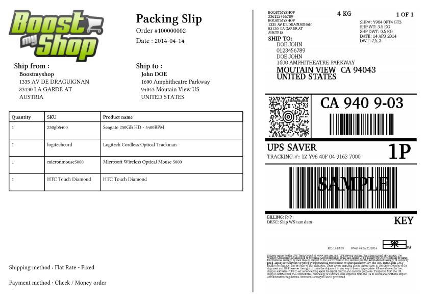 UPS Labels for Magento