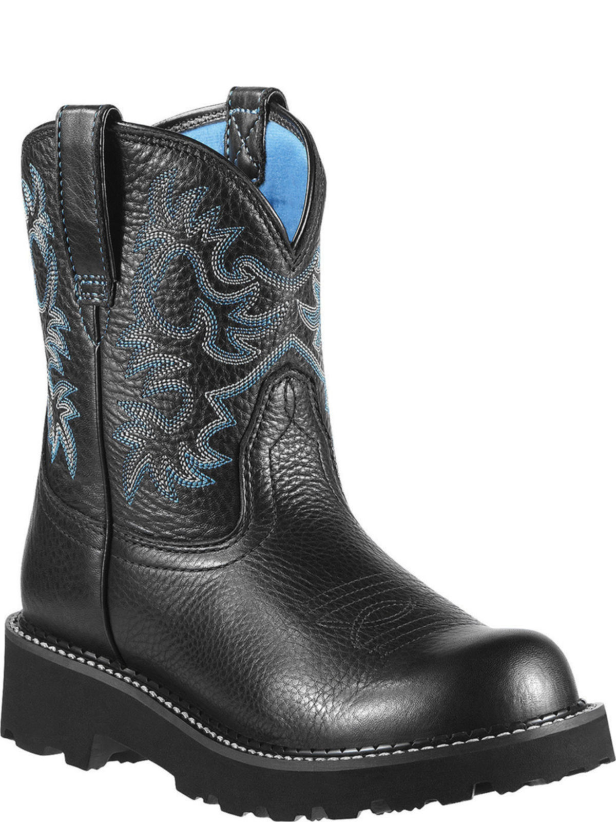 Bootamerica Ariat Womens Fatbaby Black Deertan Boot 10000833