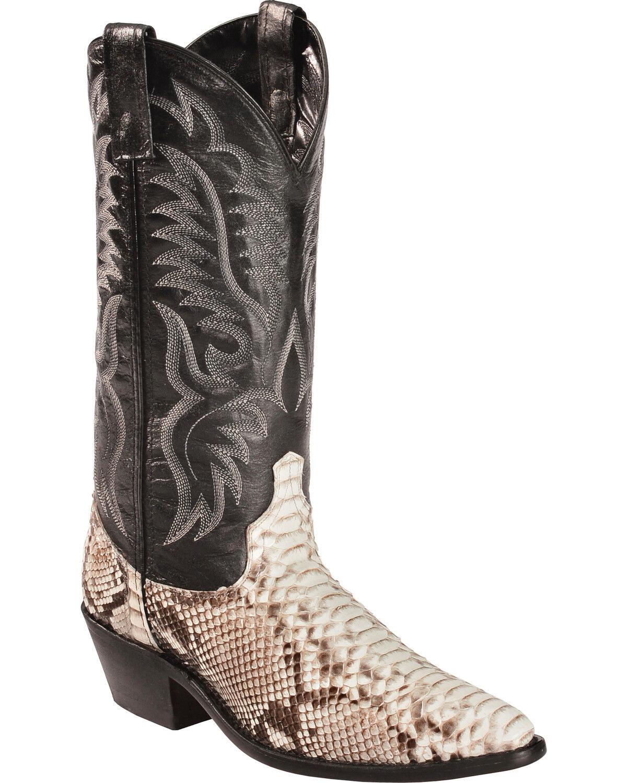 Laredo Men39s Exotic Snake Western Boots Boot Barn