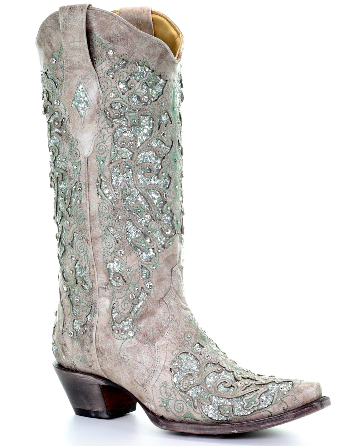 Corral Women39s Glitter Inlay And Crystals Western Boots