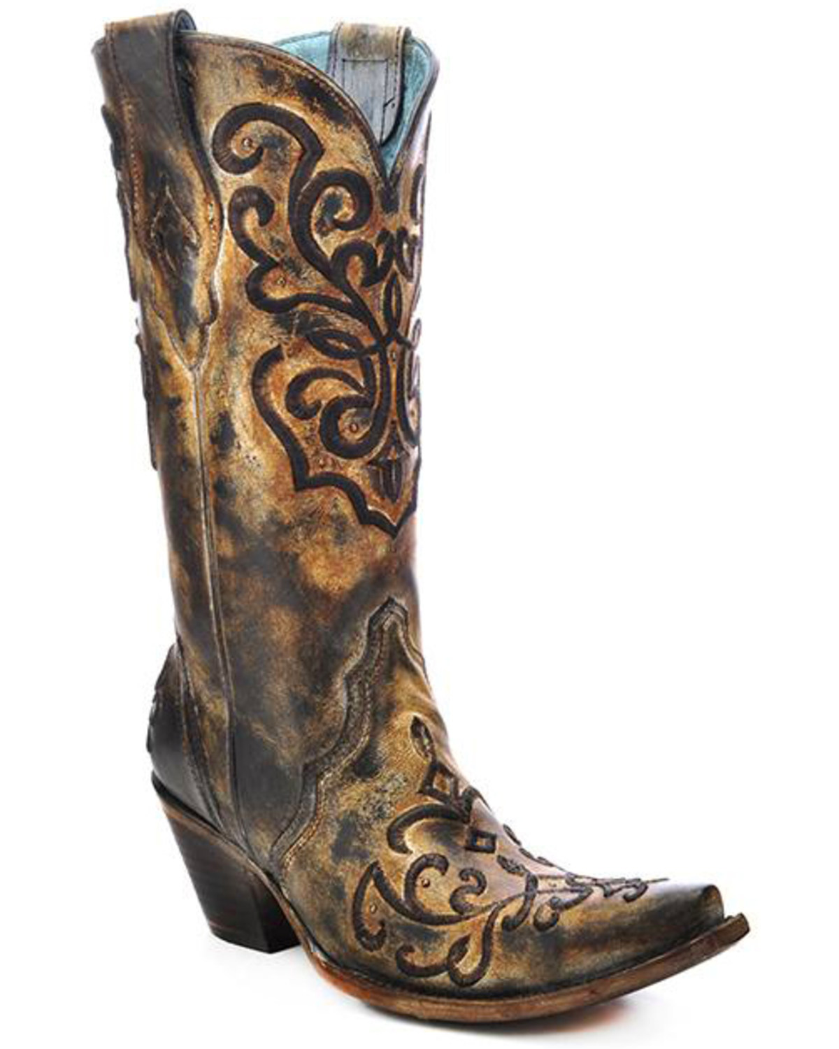 Corral Women39s Cord Embroidery And Crystals Western Boots