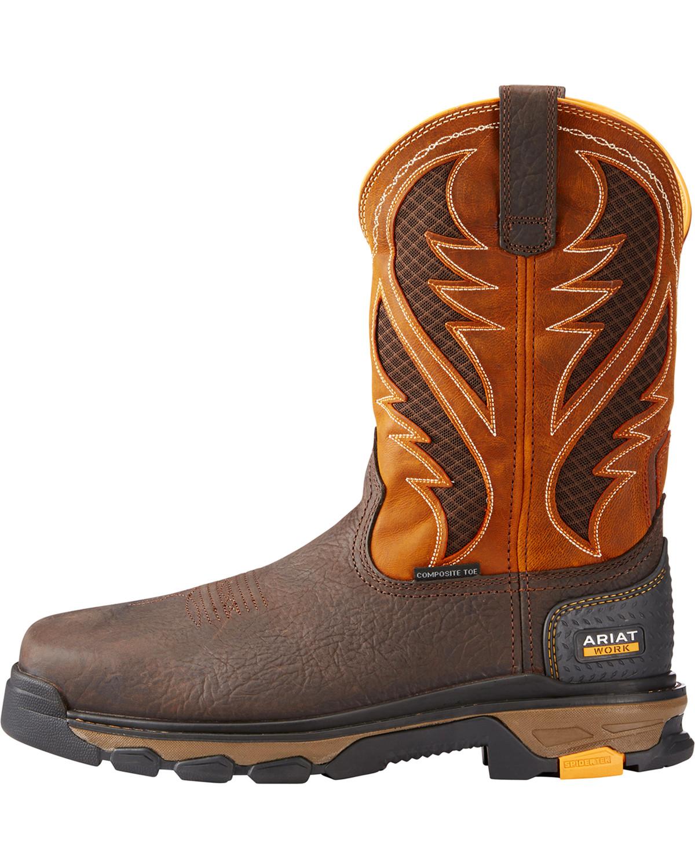 Ariat Men39s Orange Intrepid Venttek Work Boots Composite