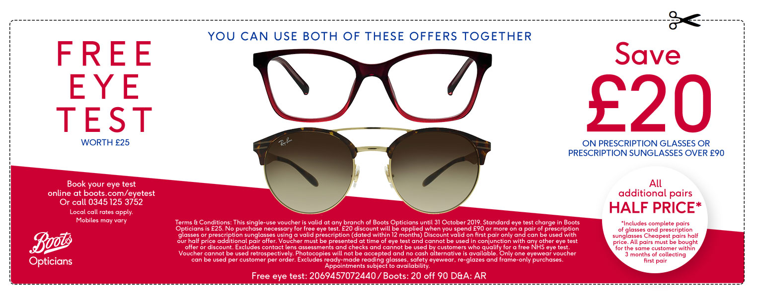 Free eye health test opticians offers offers - Boots