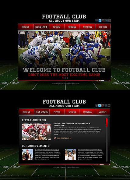 Football Club - HTML5 template ID 300111372 from bootstrap-template