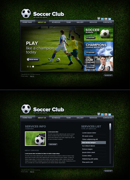 Soccer Club - HTML5 template ID 300111503 from bootstrap-template