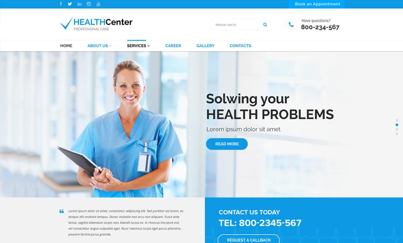 Dental, Hospital website template ID 300111912