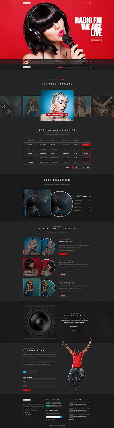Music bootstrap templates, website templates