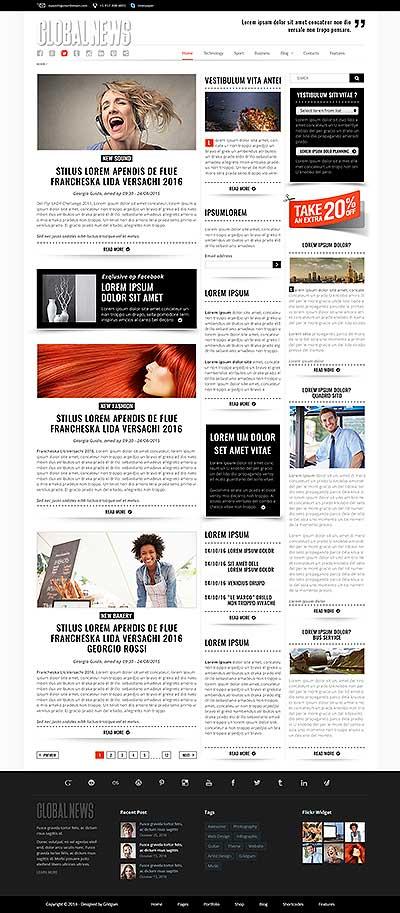 Newspaper templates, bootstrap website templates - online newspaper template
