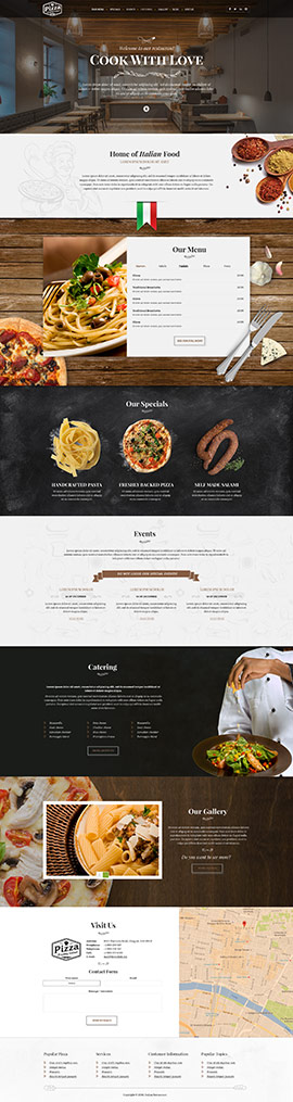 Restaurant templates from wwwbootstrap-template
