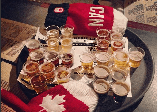 beers in Mont tremblant, quebec, canada