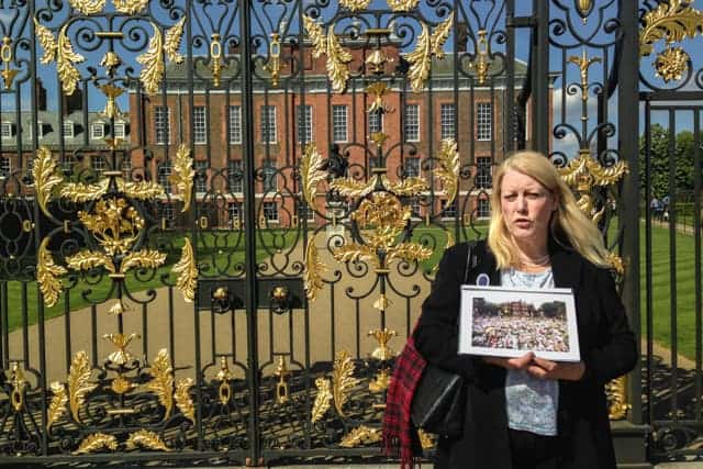 Iconic gates of Kensington Palace, London, Royal Palace, Princess Diana flowers