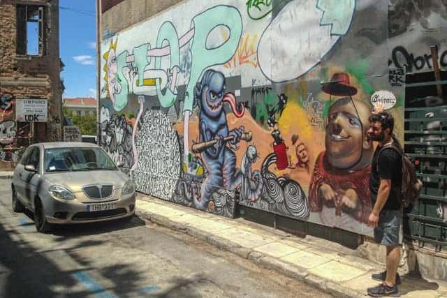 Street Artist in Athens, Greece