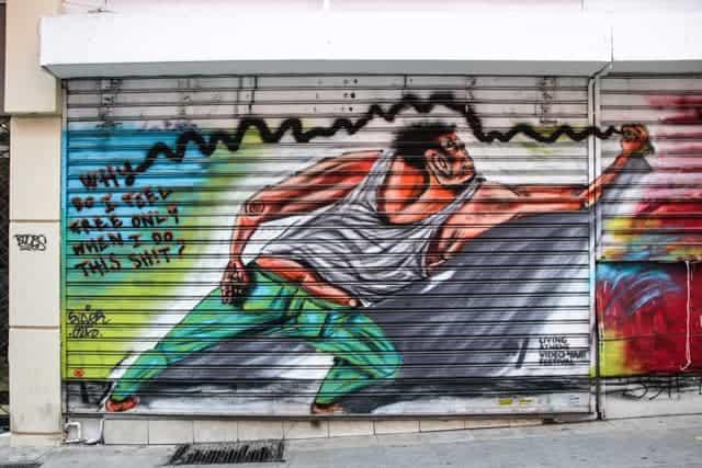 Street Art in Athens, Greece