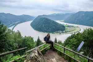 Schlögener Schlinge bend in the Danube River, Austria