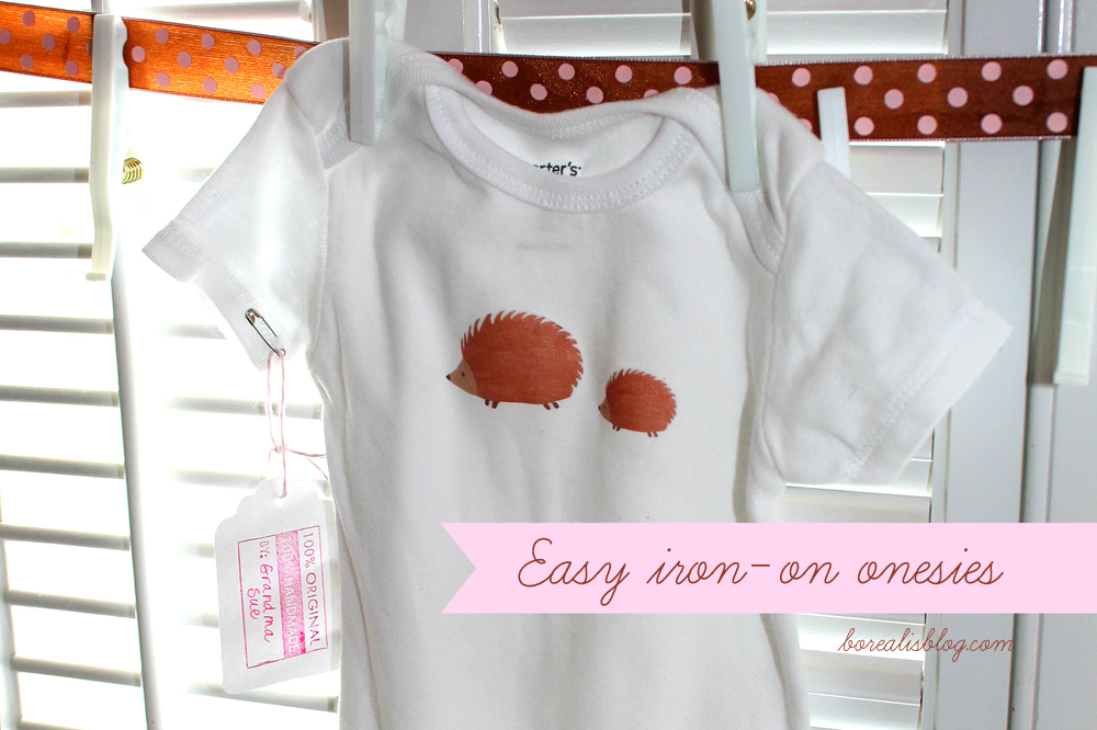 How to make baby onesies with iron-on designs -- Borealis - onesies designs
