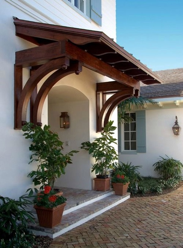 40 Lovely Door Overhang Designs