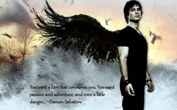 Cute Ayes Of Him And Her Wallpaper 40 Exceptional Damon Salvatore Quotes