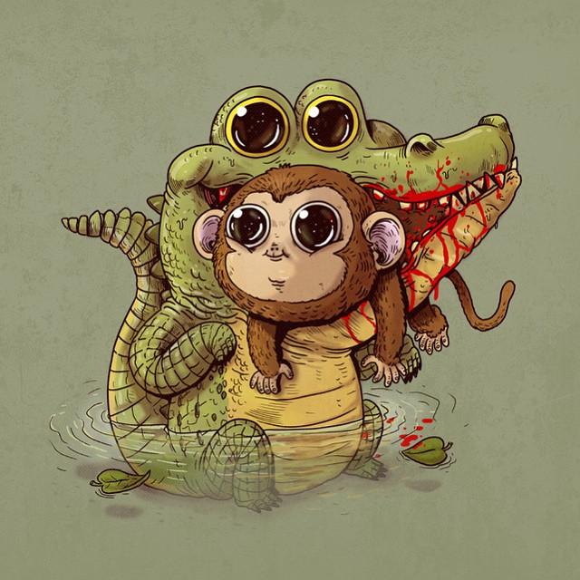caricaturas-animales-depredadores-presas-sobrepeso-alex-solis (5)
