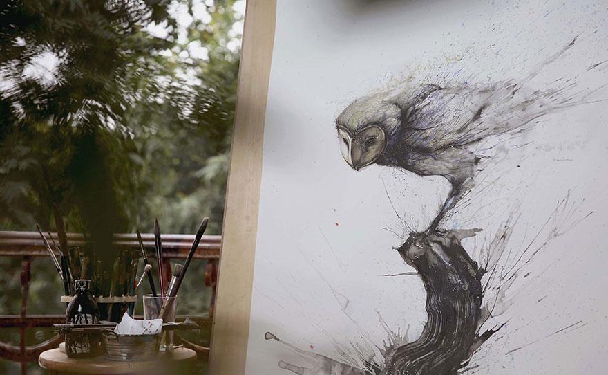 pinturas-salpicadas-animales-hua-tunan (11)