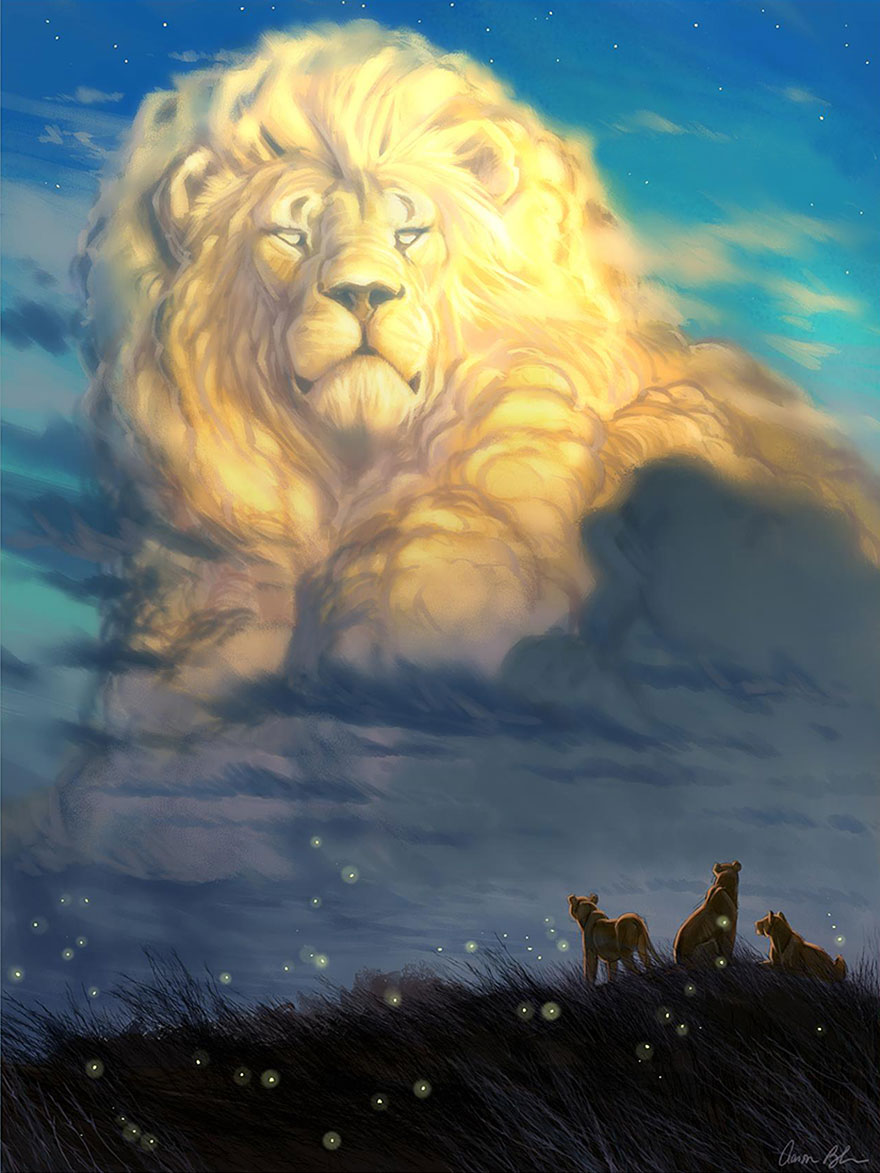 tributo-rey-leon-cecil-animador-disney-aaron-blaise- (2)