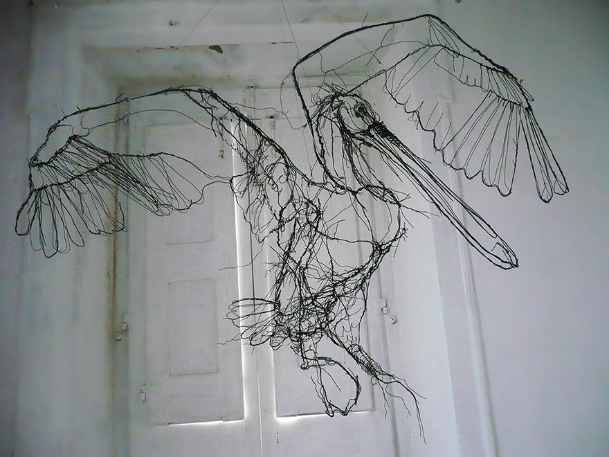 esculturas-animales-3d-alambre-david-oliveira (7)