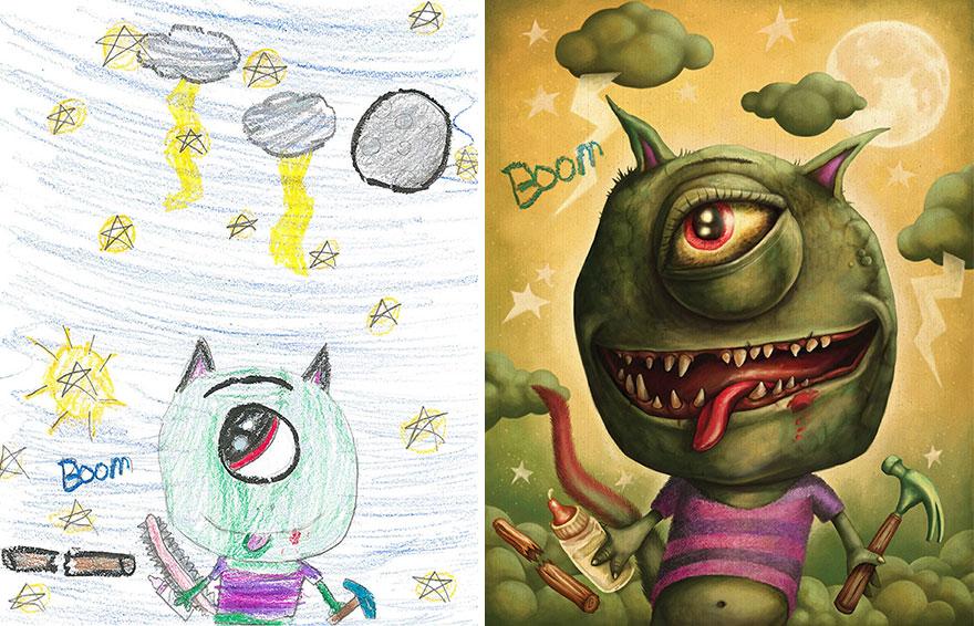 dibujos-infantiles-monstruos-artistas-monster-project (16)