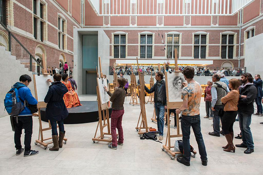 visitantes-museo-dibujos-obras-rijksmuseum-amsterdam (8)