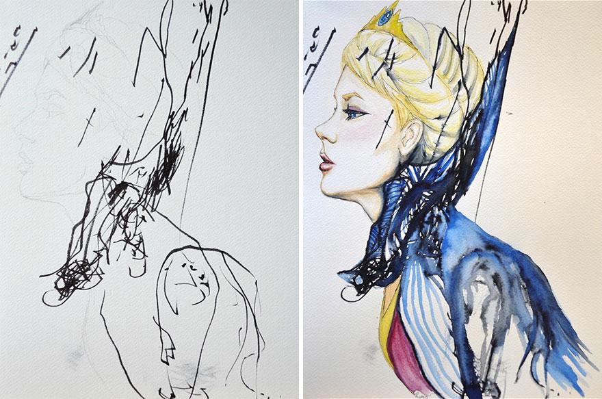 madre-hija-garabatos-pintura-eve-ruth-oosterman (9)