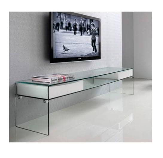 Mesa tv clear muebles de dise o borgia conti for Mesa tv diseno