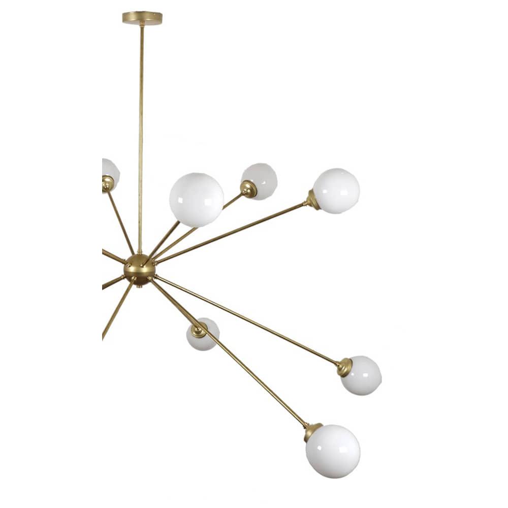 lámpara sputnik pantalla opal - borgia conti