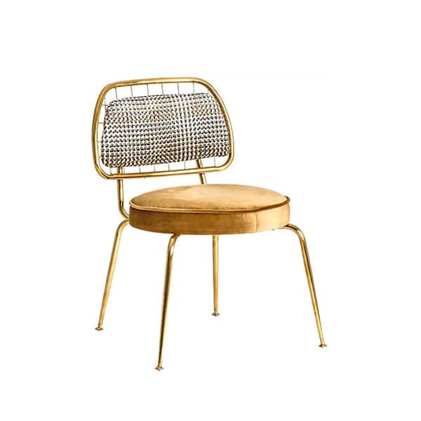 silla-diseño-mostaza-metal-dorado