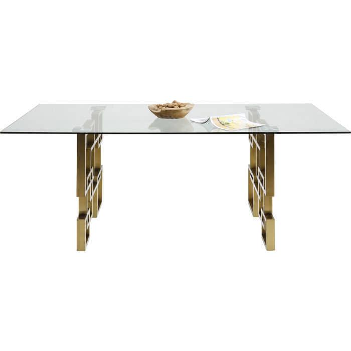 mesa-comedor-metal-dorada-diseño-comprar-borgiaconti