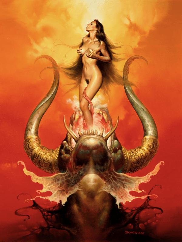 Girl Dragon Wallpaper Birth Boris Vallejo And Julie Bell