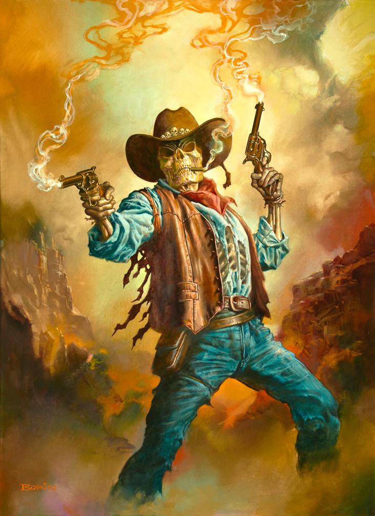 3d Wallpaper Cowboys Gunslinger Boris Vallejo And Julie Bell