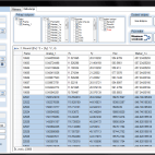Slika 1: Prikaz podatkov 3 filtriranih in združenih datotek. Dodan stolpec Rez. Njegove vrednosti so določene s funkcijo.