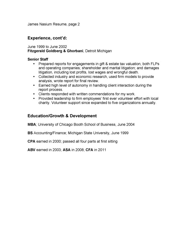 Bullet-Point-Resume-Example-page-two Borrowman Baker, LLC