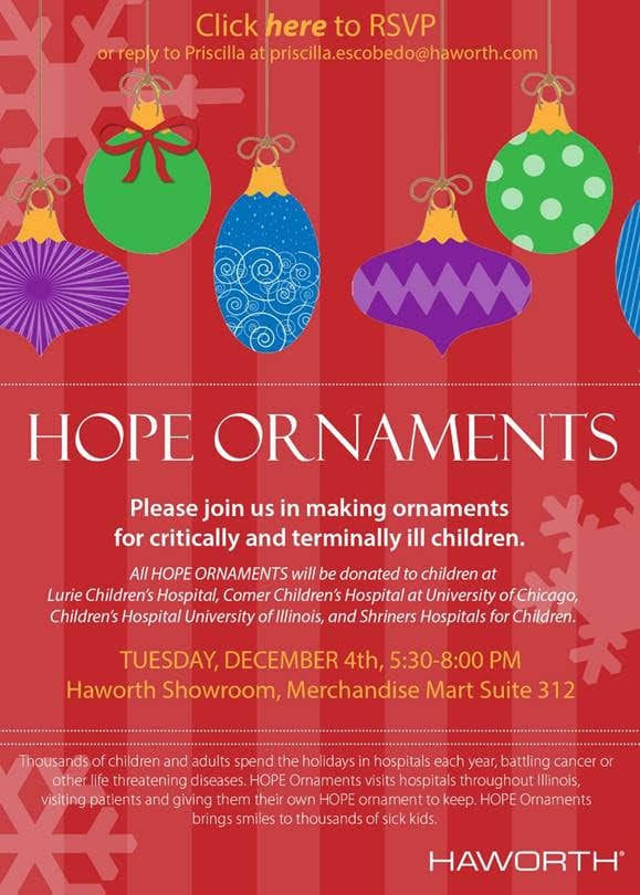 5th Annual Haworth Hope Ornaments Event Inspiring Workspaces by BOS