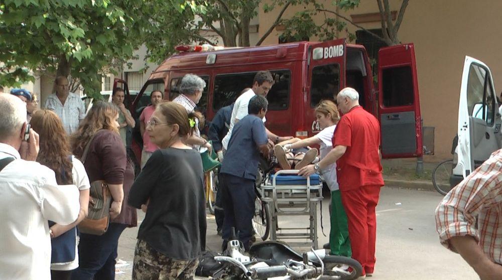 Accidente en la esquina de Alsina y Av. Vieytes