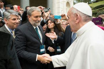 Jerónimo Ainchil, Rector de la UNSAdA con el Papa Francisco en Roma