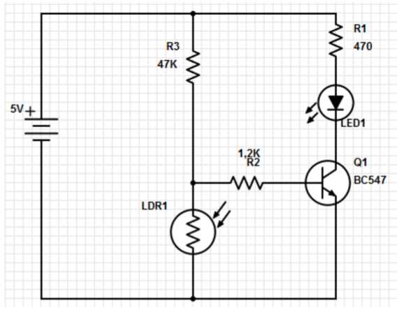 ldr light dependent resistor circuito de