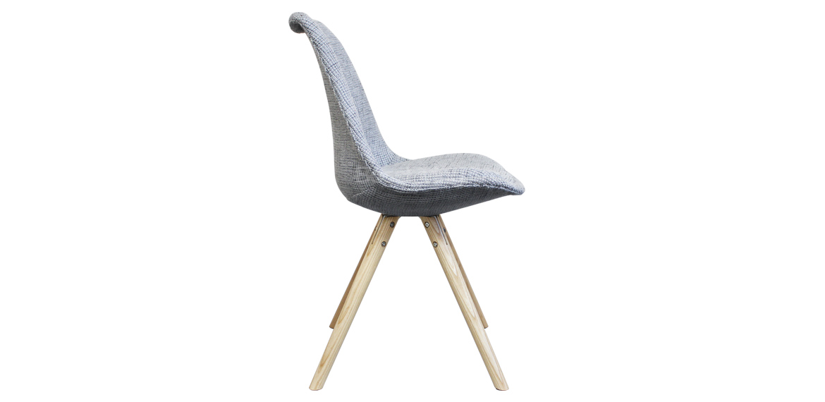 Eames Inspired Chair I Dsw Pyramid Natural Grey Fabric