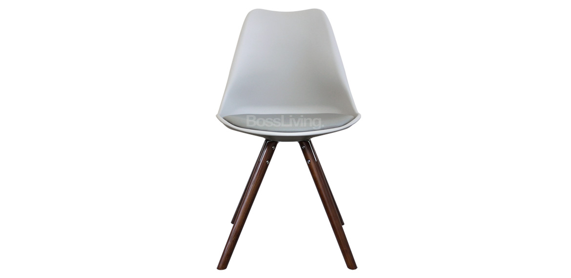 Eames Inspired Chair I Dsw Pyramid Walnut Stain Light