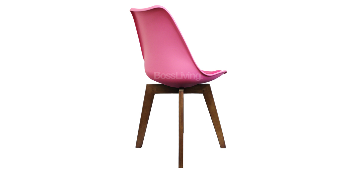 Eames Inspired Chair I Dsw Squared Walnut Stain Pink