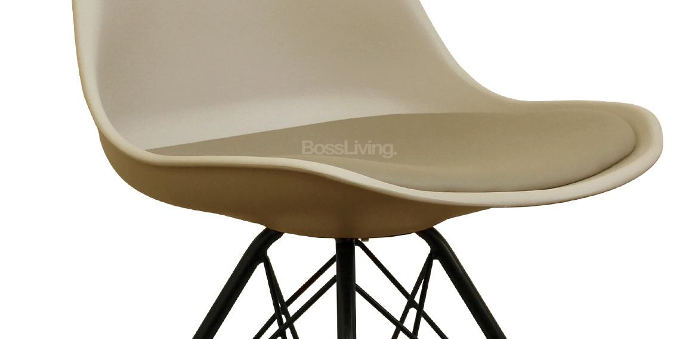Eames Inspired Chair I Dsr Black Legs Beige Boss