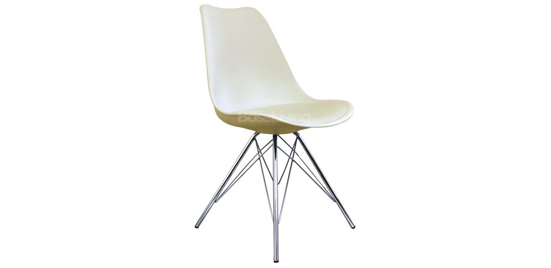 Eames Inspired Chair I Dsr Chrome Legs Vanilla Boss