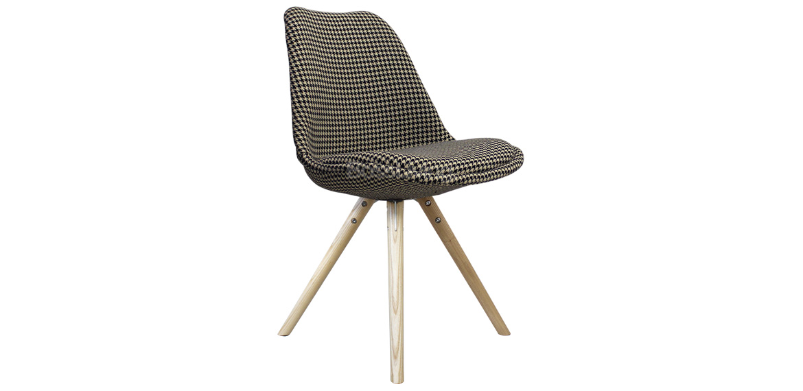 Eames Inspired Chair I Dsw Pyramid Natural Houndstooth