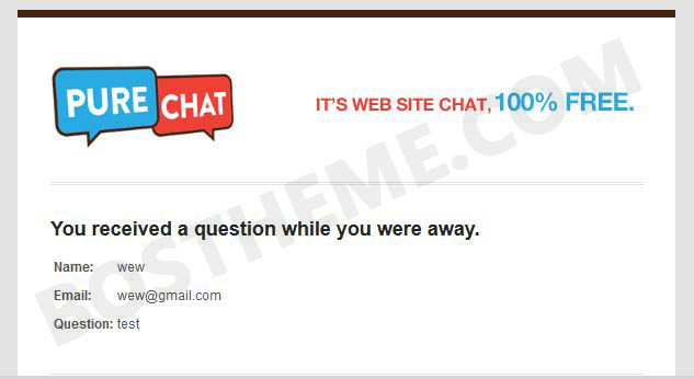 purechat email test