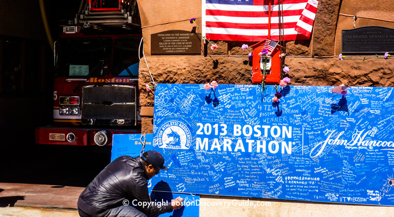 Boston Marathon Bombing Memorials 117th Marathon